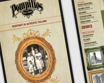 Pompilio's menu
