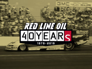 Red Line Oil 40 Years Logo